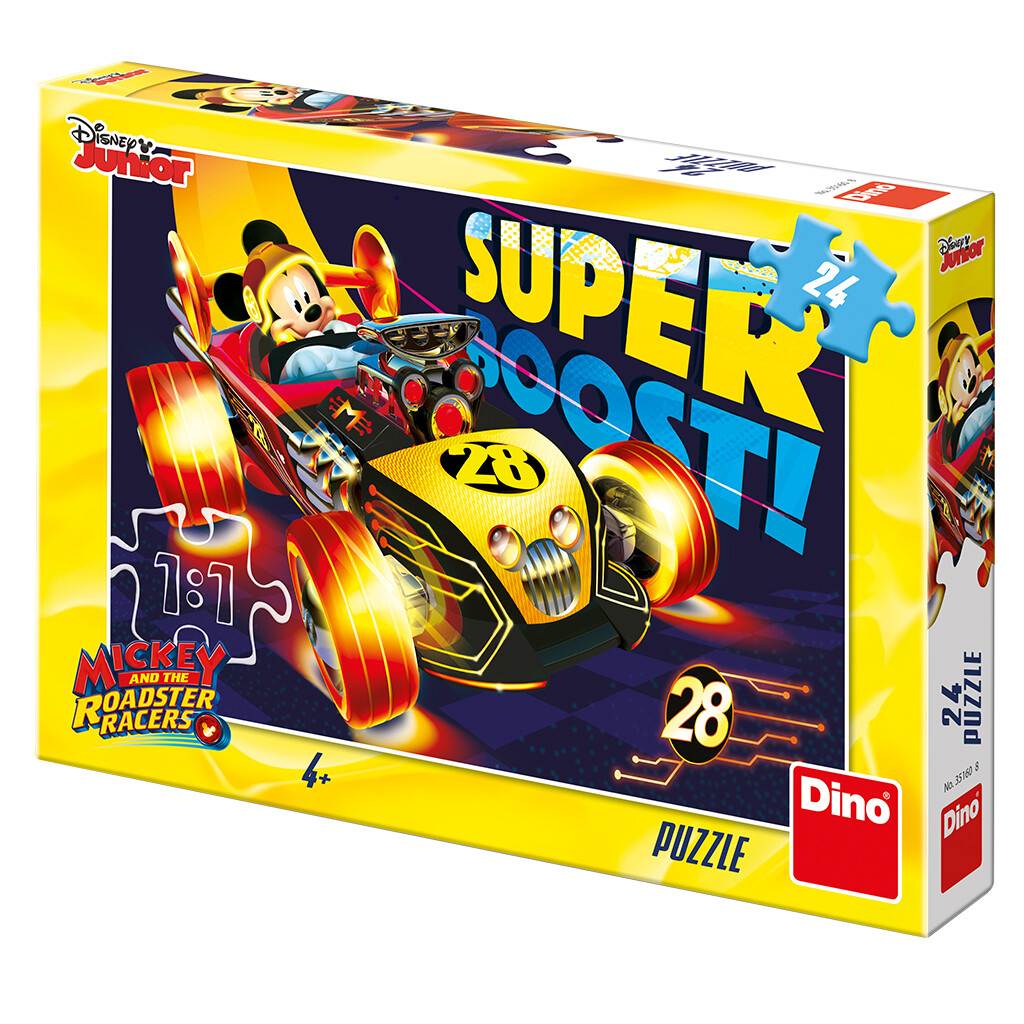 PUZZLE 24 pcs - Mickey & Superpilotos - Disney Junior - DINO