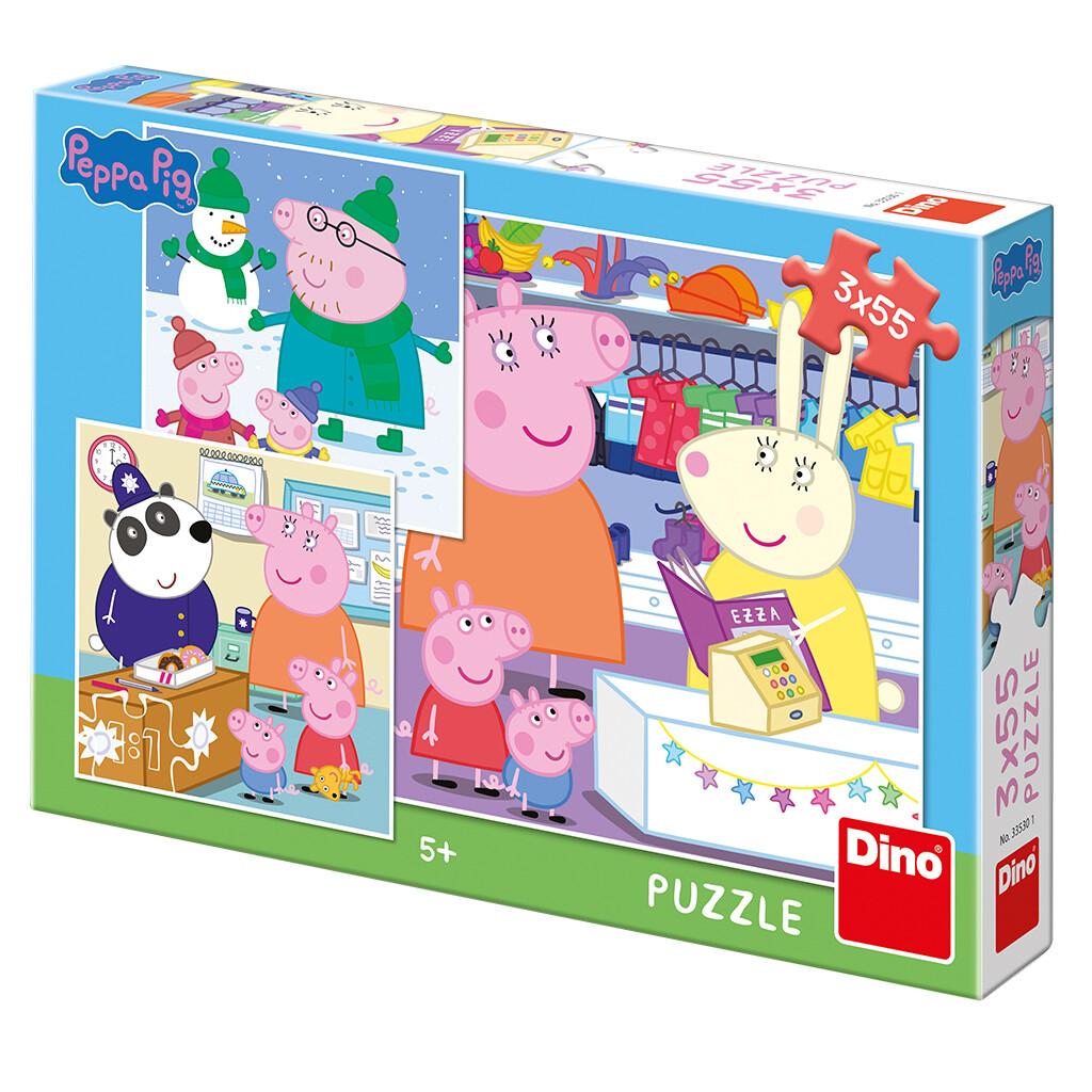 PUZZLE 3x55 pcs - Peppa Pig - Tarde Feliz - DINO
