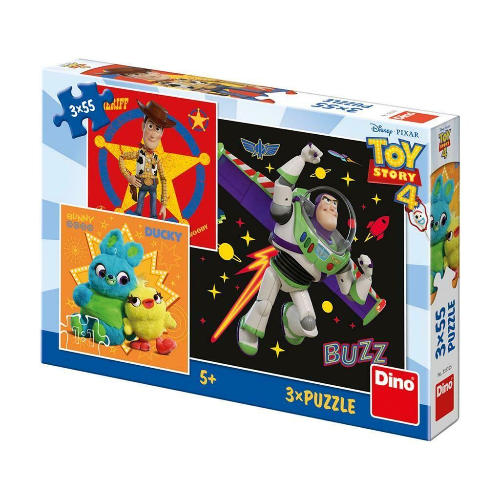 PUZZLE 3x55 pcs - Toy Story 4 - Disney - DINO