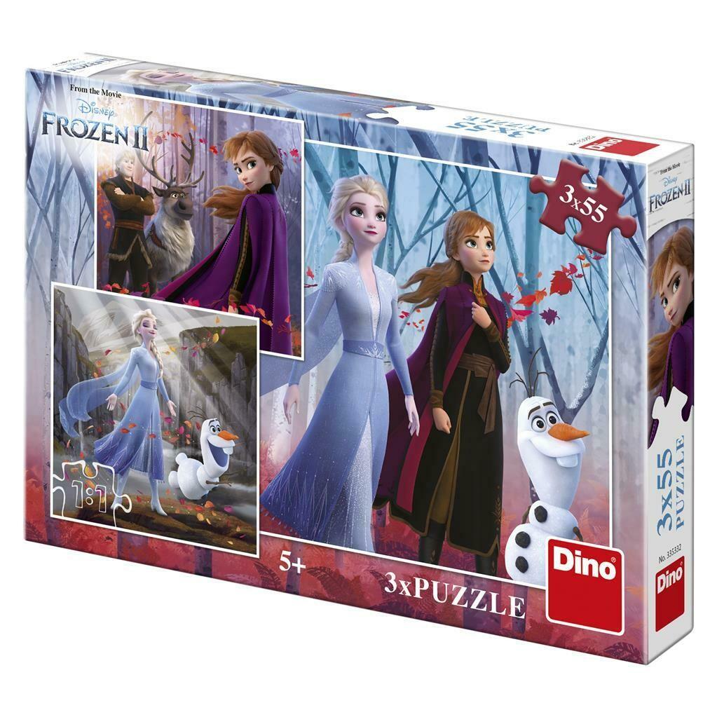 PUZZLE 3x55 pcs - Frozen 2- Disney - DINO