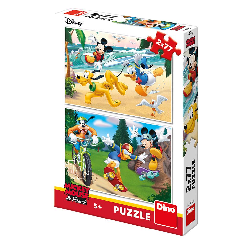 PUZZLE 2x77 pcs - Mickey - Disney - DINO
