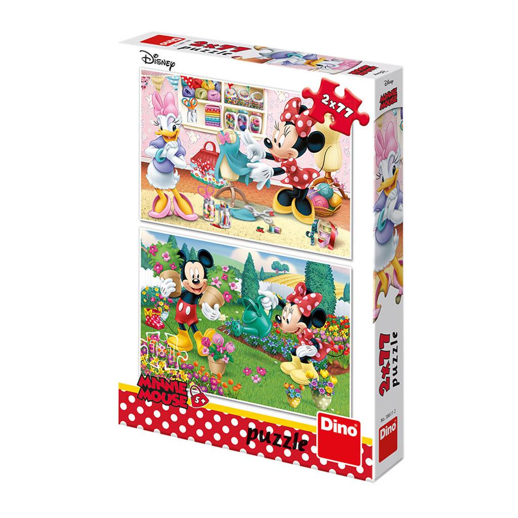 PUZZLE 2x77 pcs - Minnie - Disney - DINO