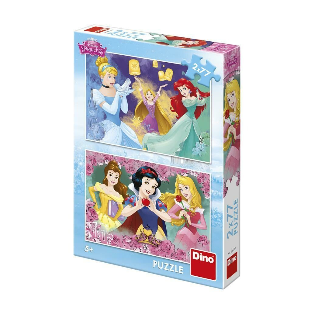 PUZZLE 2x77 pcs - Princesas - Disney - DINO