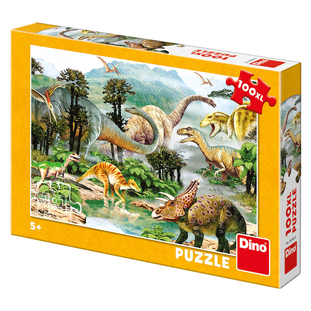 PUZZLE 100 pcs XL Dinossauros - DINO