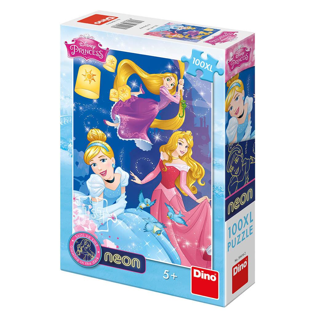 PUZZLE 100 pcs XL NEON Princesas - Disney - DINO