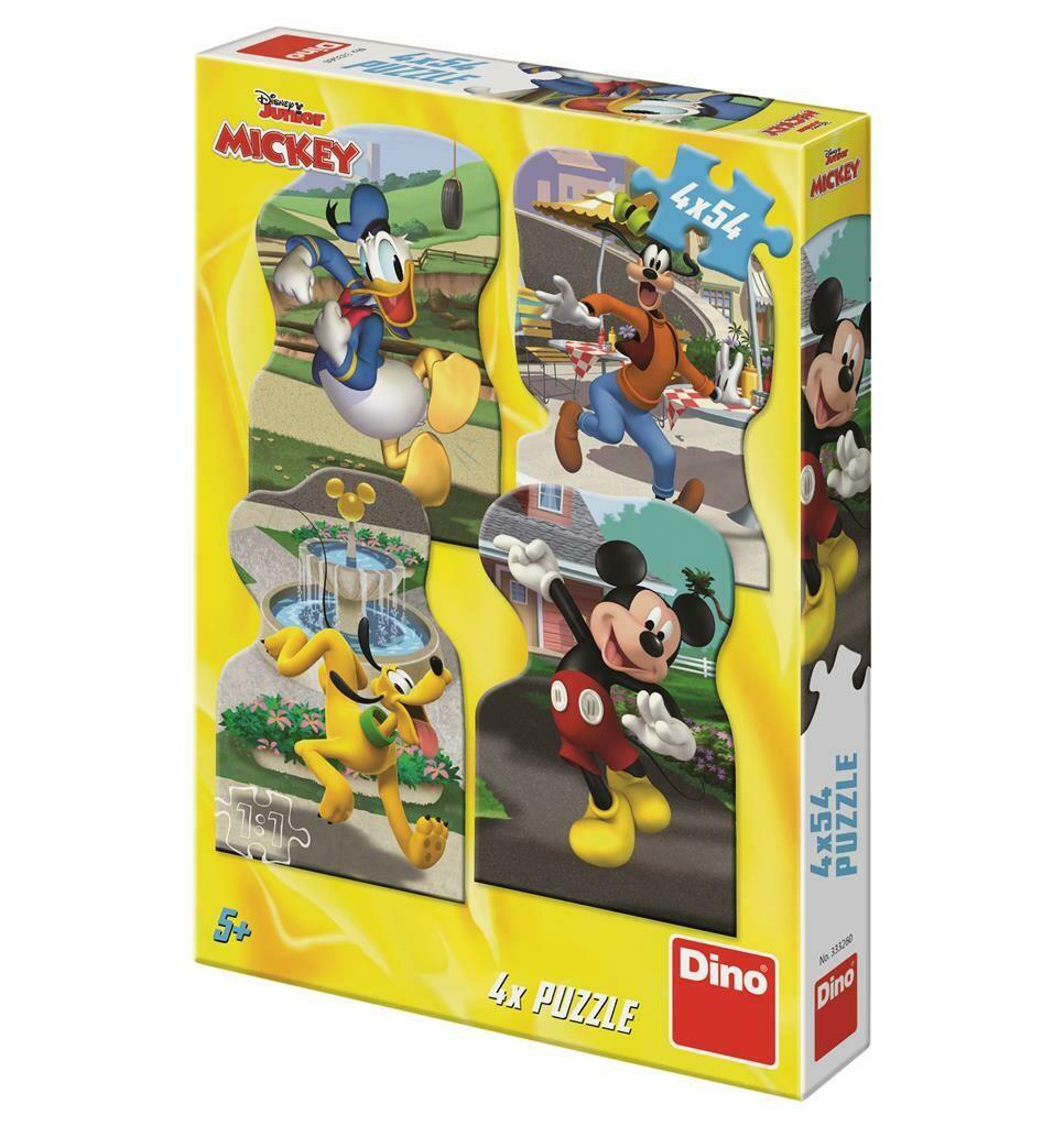 PUZZLE 4x54 pcs - Mickey na cidade - Disney - DINO