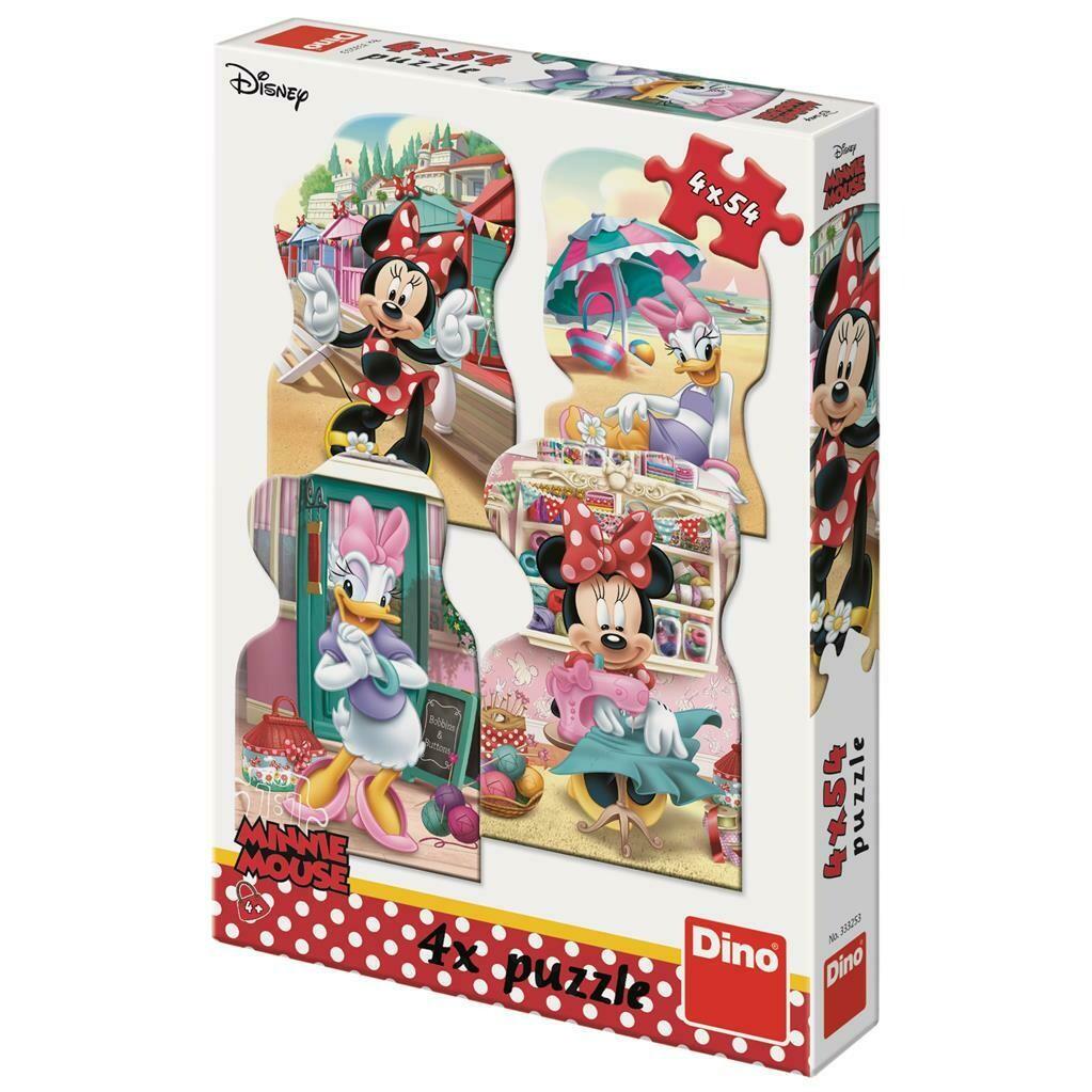 PUZZLE 4x54 pcs - Minnie e Margarida - Verão - Disney - DINO