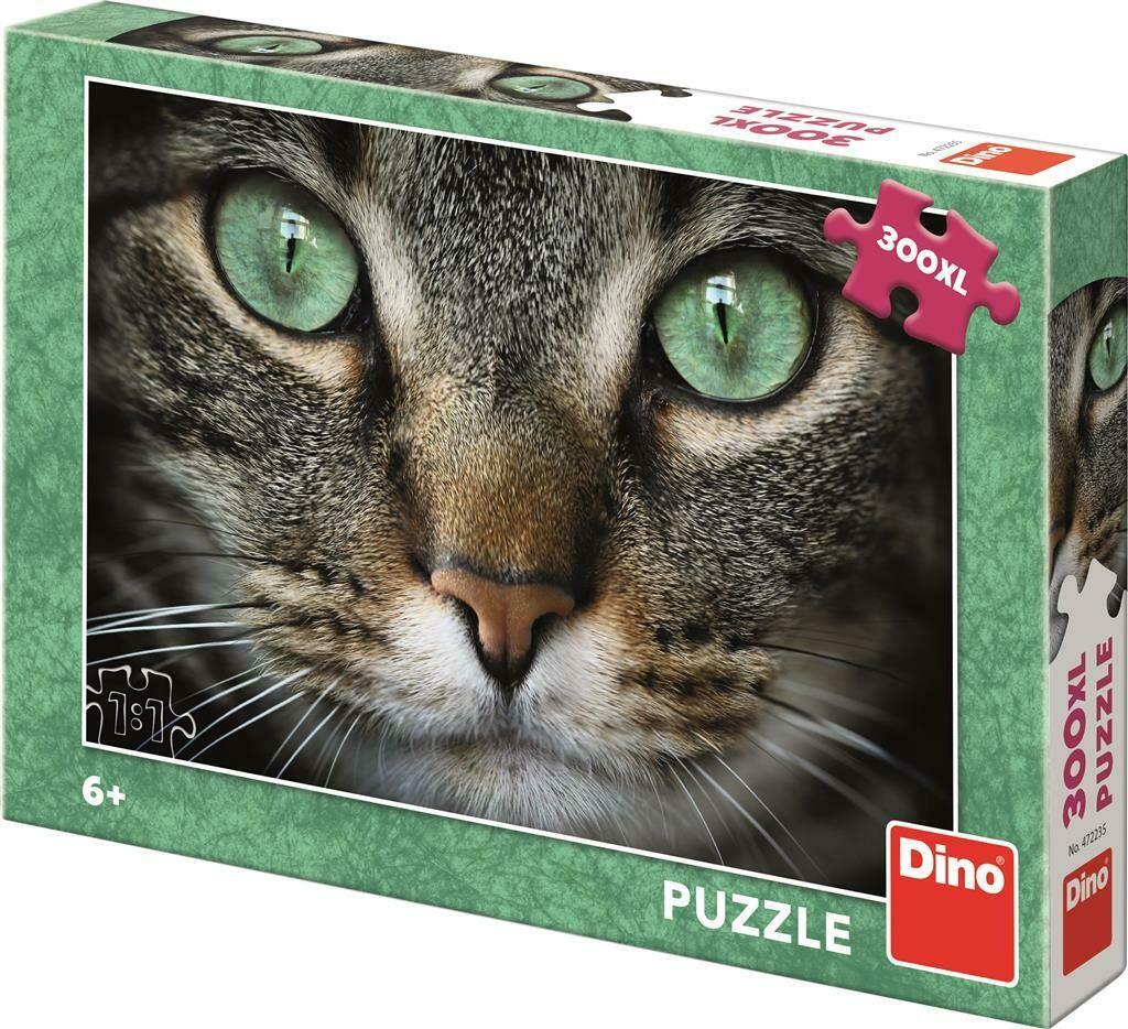 PUZZLE 300 pcs XL Gato - Olhos Verdes - DINO