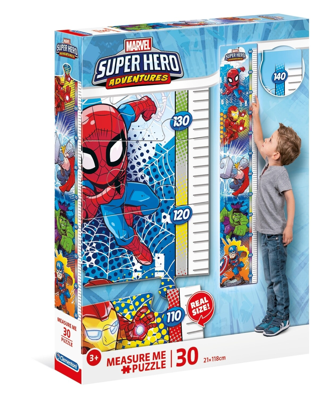 PUZZLE Measure Me 30 pcs Spiderman - CLEMENTONI