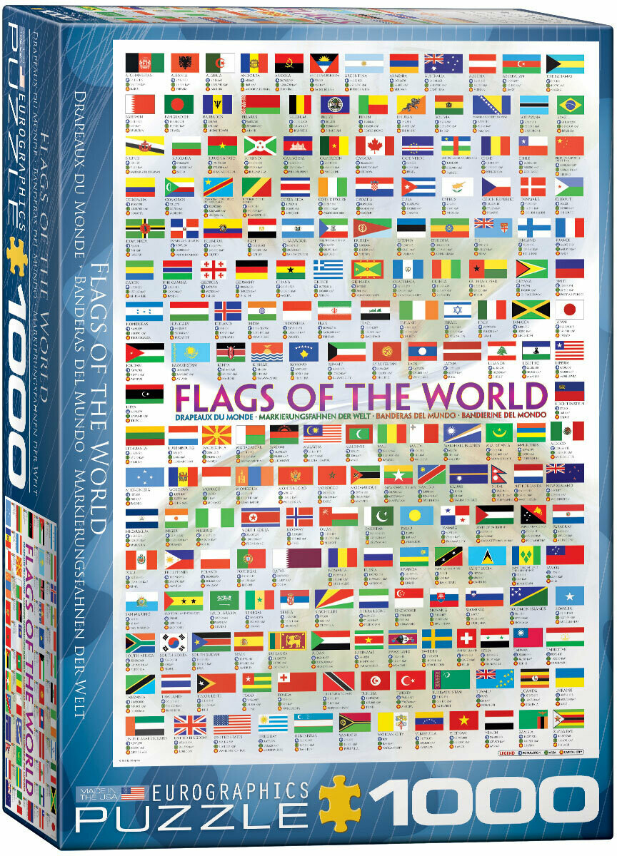PUZZLE 1000 pcs Bandeiras - Eurographics