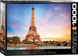 PUZZLE 1000 pcs Torre Eiffel - Paris - Eurographics