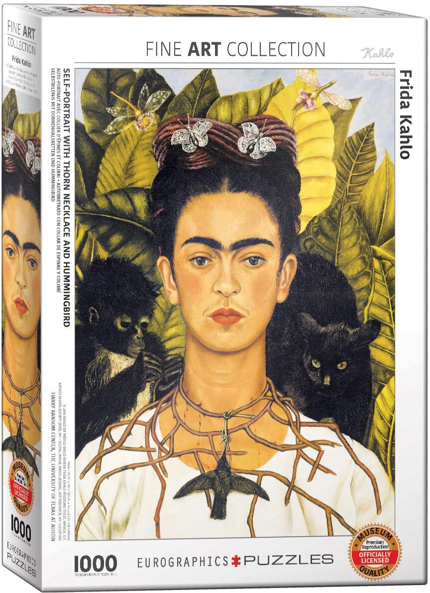 PUZZLE 1000 pcs Frida Kahlo - Retrato com Colibris - Eurographics