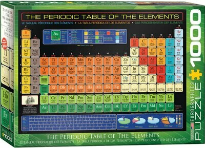 PUZZLE 1000 pcs Tabela Periódica - Eurographics