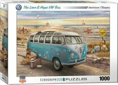 PUZZLE 1000 pcs The Love & Hope VW Bus - Eurographics