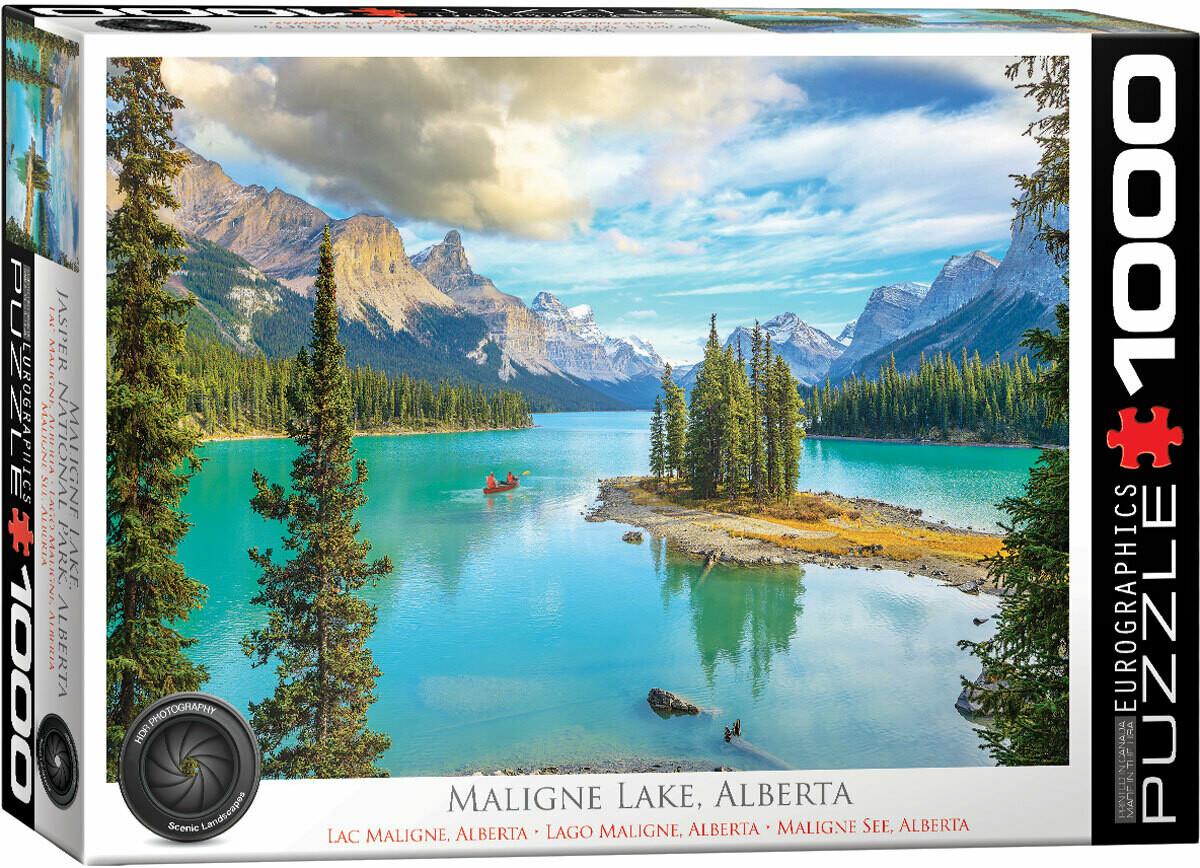 PUZZLE 1000 pcs Malign Lake Alberta - Eurographics