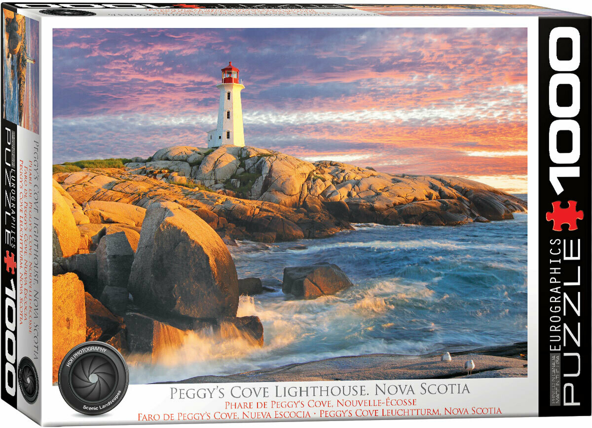 PUZZLE 1000 pcs Peggy Cove Lighthouse Nova Scotia - Eurographics