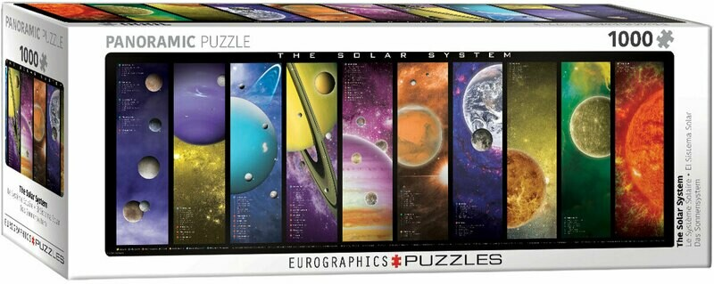 PUZZLE 1000 pcs Panoramic - Solar System - Eurographics