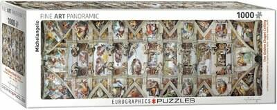 PUZZLE 1000 pcs Panoramic - Capela Sistina - Eurographics
