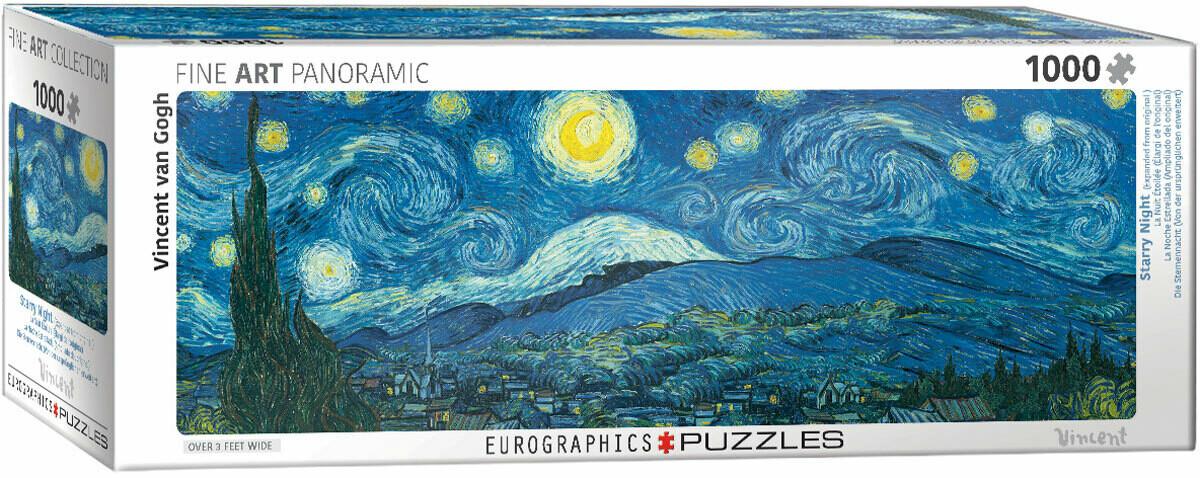 PUZZLE 1000 pcs Panoramic -Noite Estrelada - Eurographics