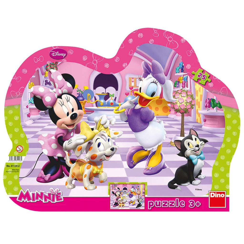 PUZZLE Frame 25 pcs - Minnie & Pets - DINO