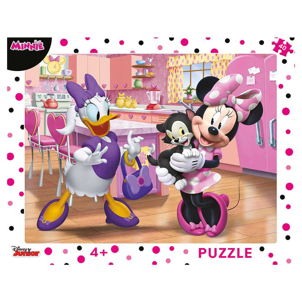 PUZZLE Frame 40 pcs - Pink Minnie - DINO