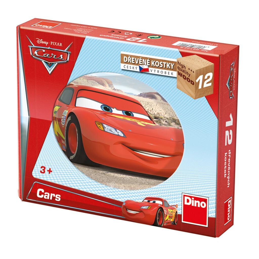 12 BLOCOS Madeira - Carros -  Disney - DINO