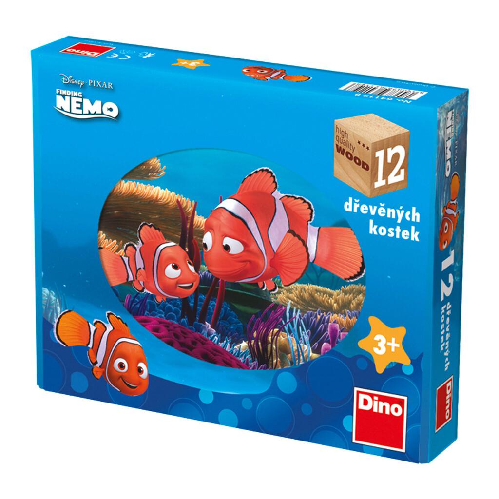 12 BLOCOS Madeira - Nemo -  Disney - DINO