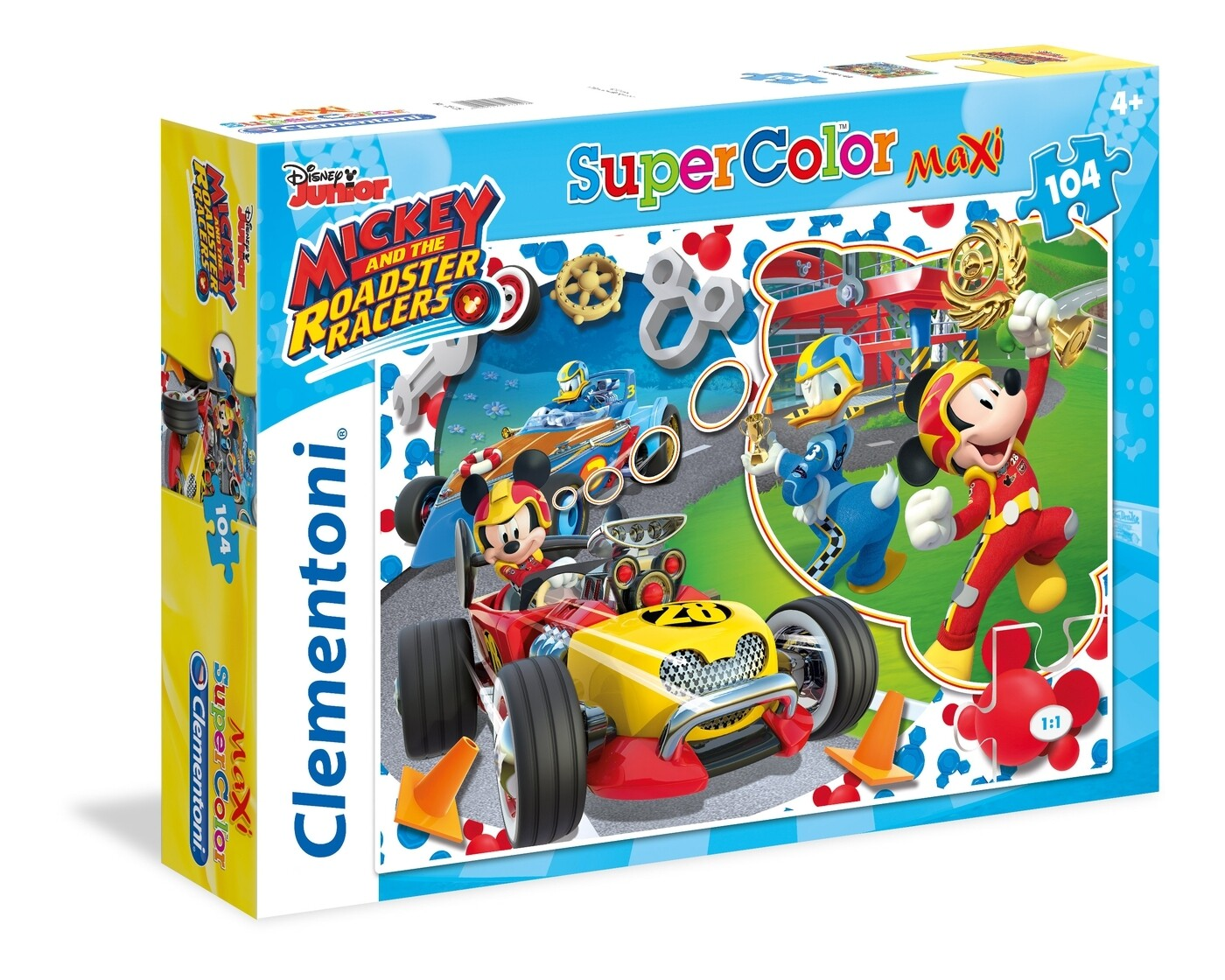 PUZZLE Supercolor MAXI - 104pcs - Mickey & Superpilotos - CLEMENTONI