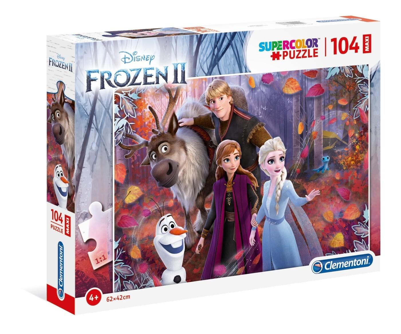 PUZZLE Supercolor MAXI - 104pcs - Frozen II - CLEMENTONI