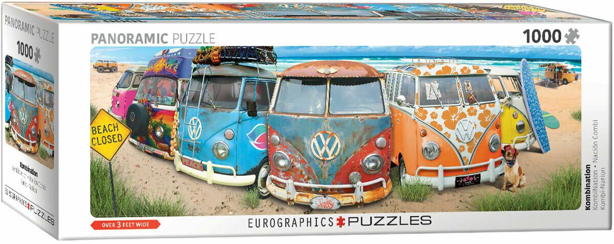 PUZZLE 1000 pcs Panoramic- VW Kombination - Eurographics