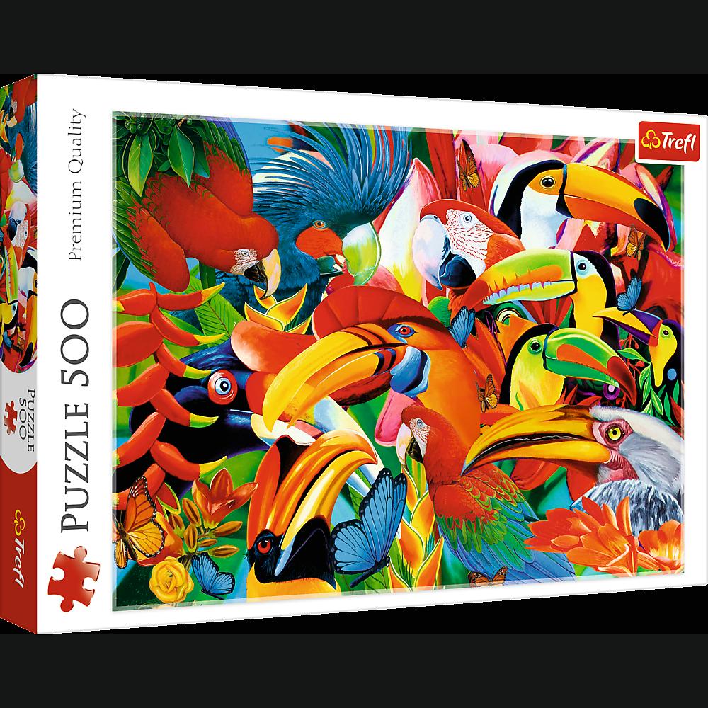 PUZZLE 500 pcs -Aves Coloridas - TREFL