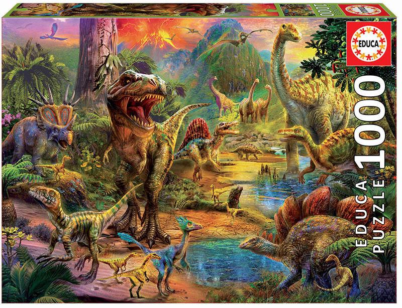PUZZLE 1000 pcs Terra de Dinossauros - EDUCA
