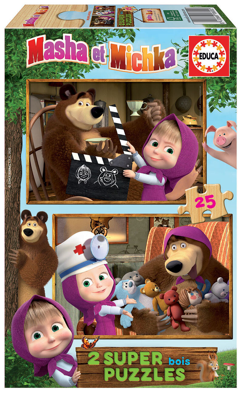 PUZZLE 2x25 pcs Masha e Urso - EDUCA