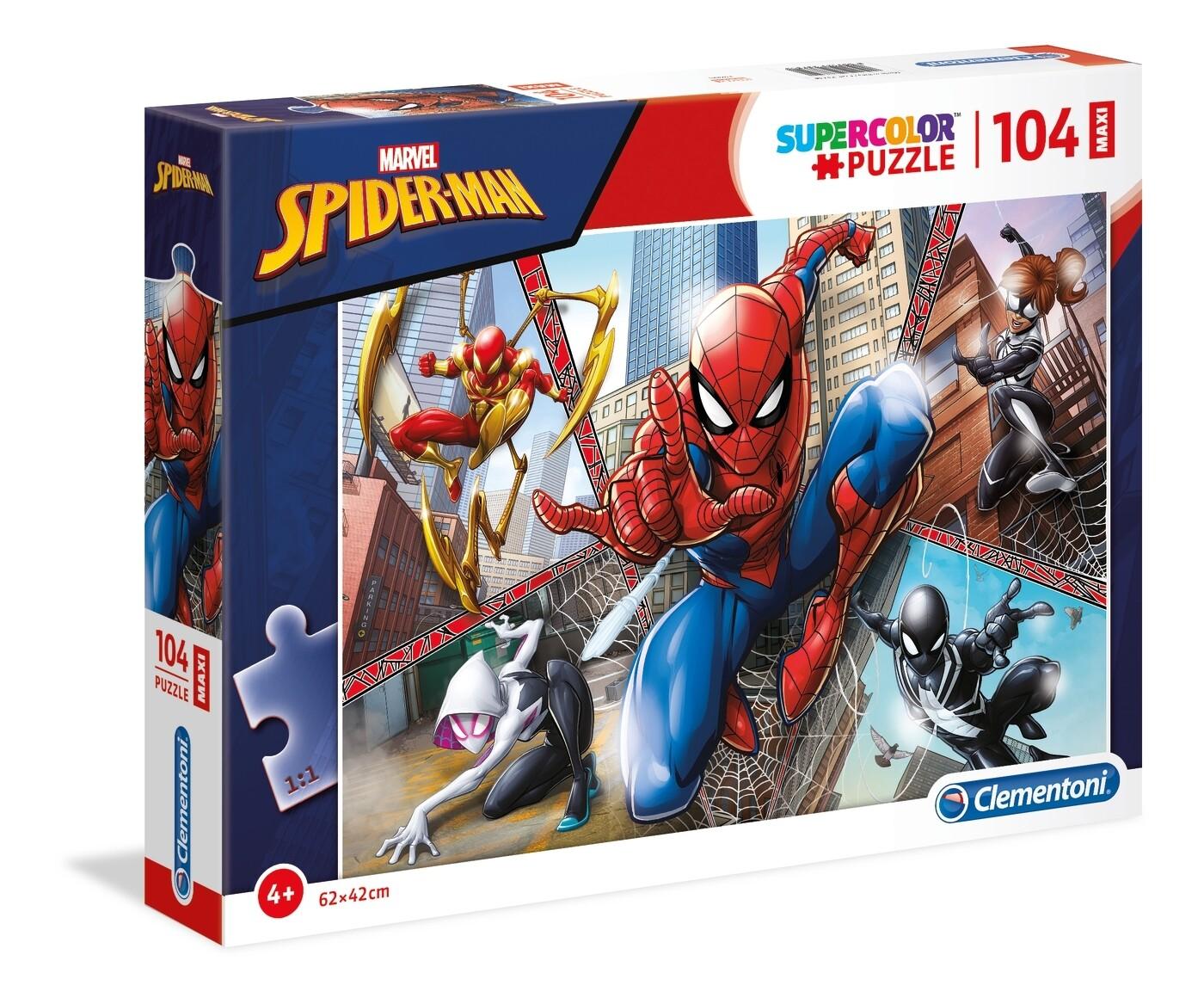 PUZZLE Supercolor MAXI - 104pcs - Spiderman - CLEMENTONI