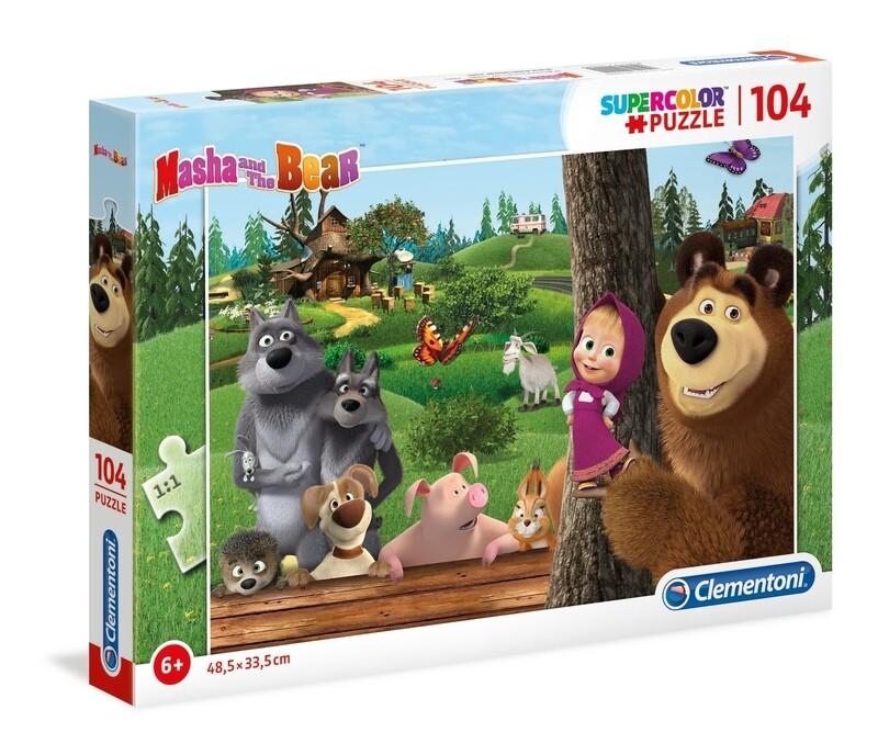 PUZZLE Super 104pcs Masha e Urso -- CLEMENTONI