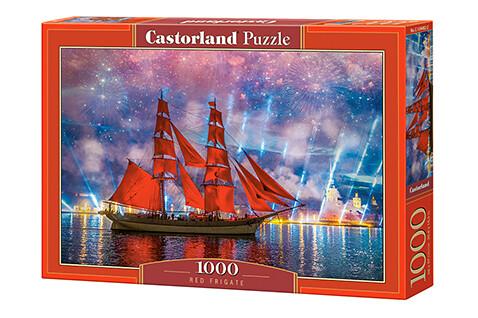 PUZZLE 1000 pcs - Red Frigate - CASTORLAND