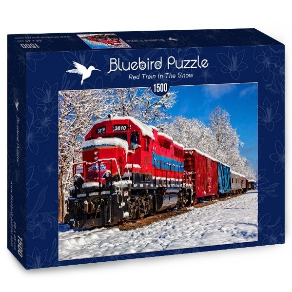 PUZZLE 1500 pcs - Red Train - BLUEBIRD