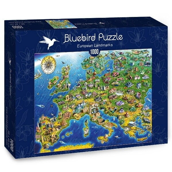 PUZZLE 1000 pcs - Símbolos da Europa - BLUEBIRD