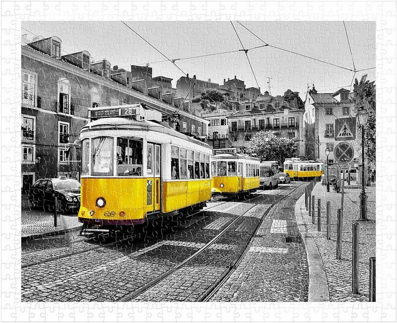 PUZZLE 500 pcs - Eletricos Amarelos de Lisboa - Pintoo