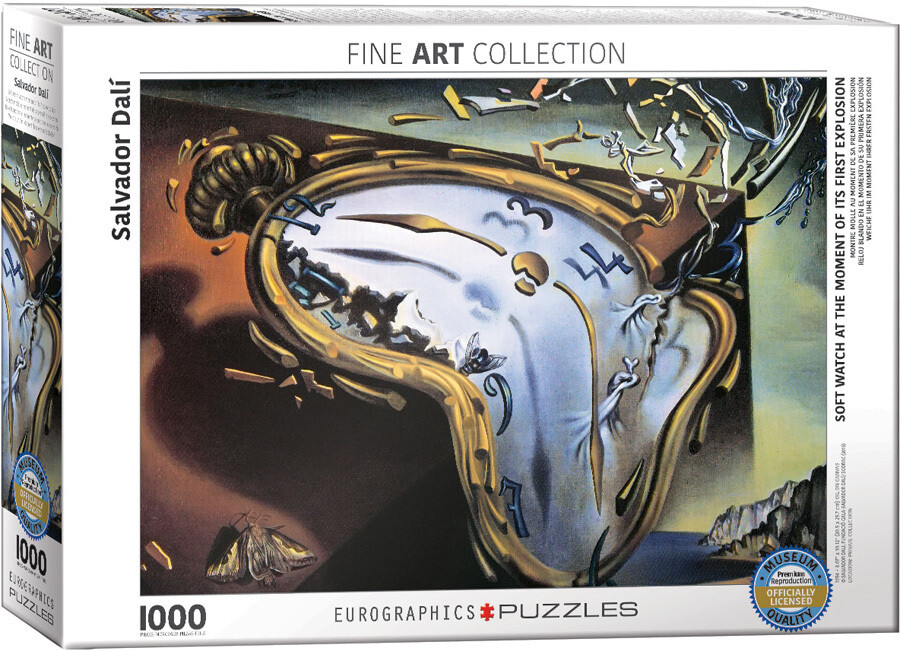 PUZZLE 1000 pcs Melting Clocks - Salvador Dalí - Eurographics