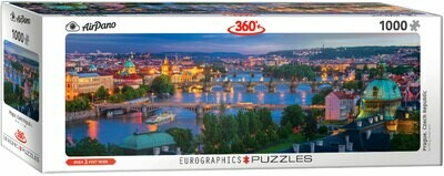 PUZZLE 1000 pcs Panoramic - Praga - Eurographics