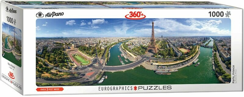 PUZZLE 1000 pcs Panoramic - Paris - Eurographics