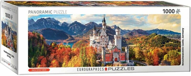 PUZZLE 1000 pcs Panoramic - Neuschwanstein no Outono - Eurographics