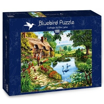 PUZZLE 1000 pcs - Cottage by the Lake - BLUEBIRD