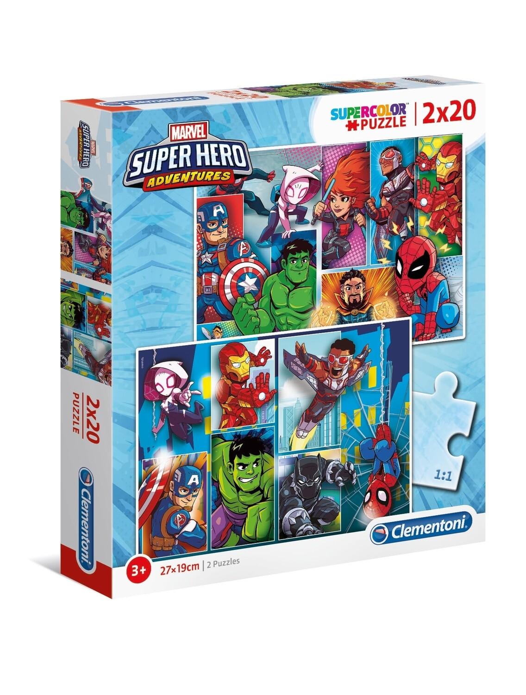 PUZZLE Super Hero - Marvel 2x20 pcs - CLEMENTONI