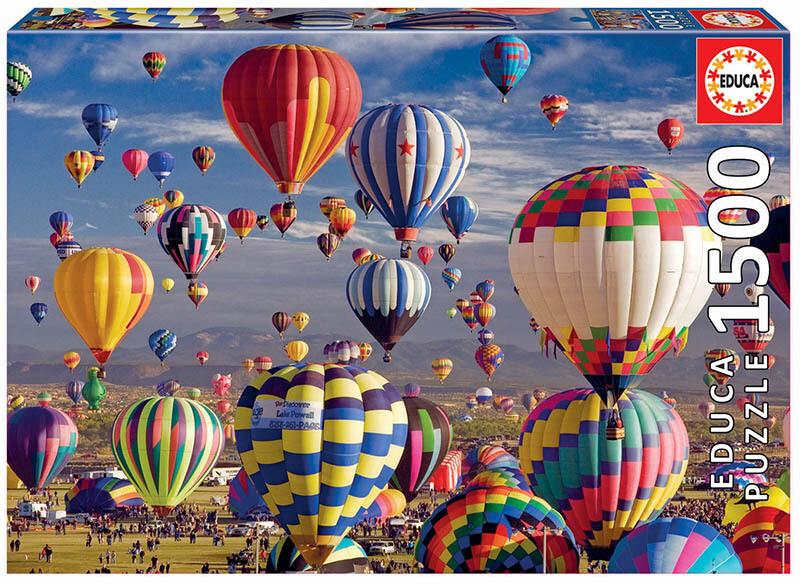 PUZZLE 1500 pcs - Balões de Ar Quente  - EDUCA