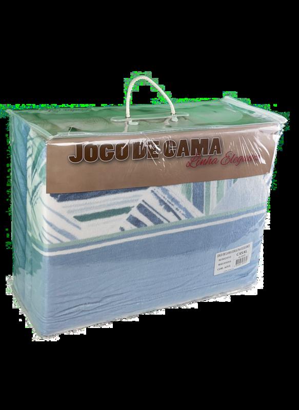 Jogo lençóis termicos de casal coralina elegance 100%pol