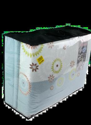 Jogo lençóis termicos de casal coralina pinguim  100%pol