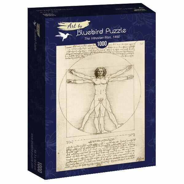 PUZZLE 1000 pcs - The Vitruvian Man, 1490 - BLUEBIRD