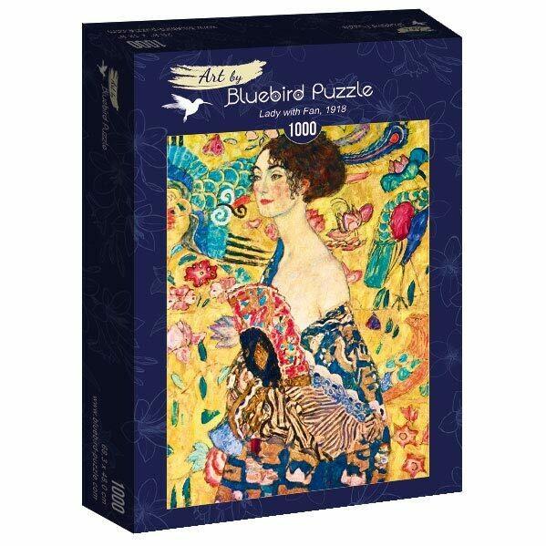 PUZZLE 1000 pcs - Gustave Klimt - Lady with Fan 1918 - BLUEBIRD